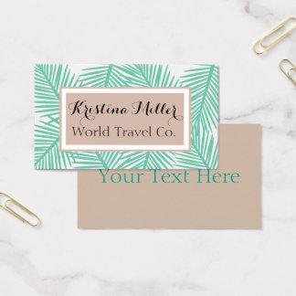 Modern Palm | Neutrals | Travel | Business Card