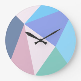 Modern pastel color triangle Clock