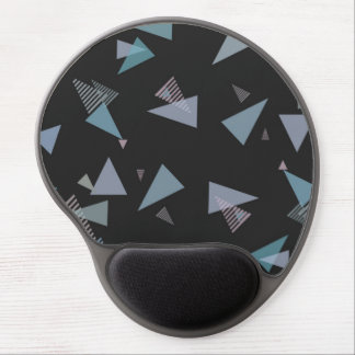 Modern pastel color triangle Gel Mousepad