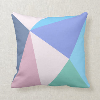 Modern pastel color triangle Polyester Throw Pillo Throw Pillow