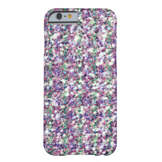 Modern Pastel Colors Glitter Texture Print Barely There iPhone 6 Case