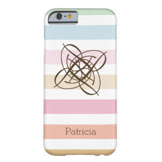 Modern Pastel Colors Monogram Pattern Barely There iPhone 6 Case