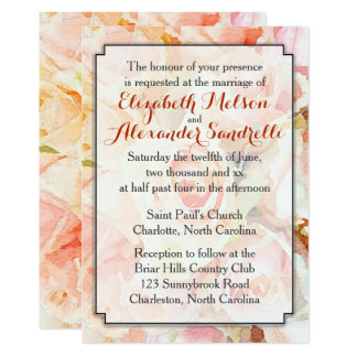 Modern Pastel Peach Wedding Invitation