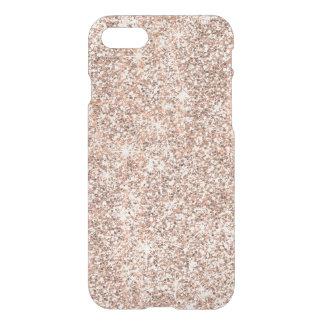 Modern Pastel Rose Gold Glitter Sparkles iPhone 8/7 Case