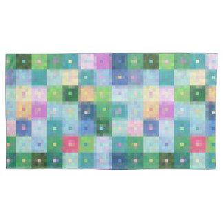 Modern patchwork quilt pillowcases