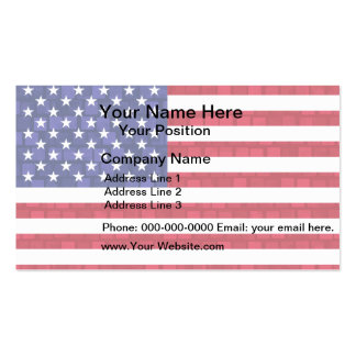 Modern Pattern American Flag Business Card Template