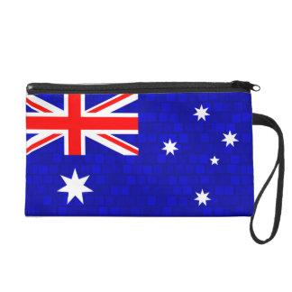 Modern Pattern Australian Flag Wristlet