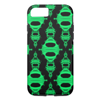 Modern Pattern Dividers 03 Green and Black iPhone 7 Case