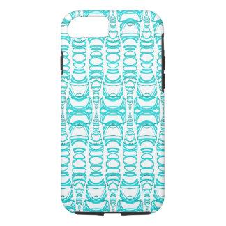 Modern Pattern Dividers 07 Teal Custom White BG iPhone 8/7 Case