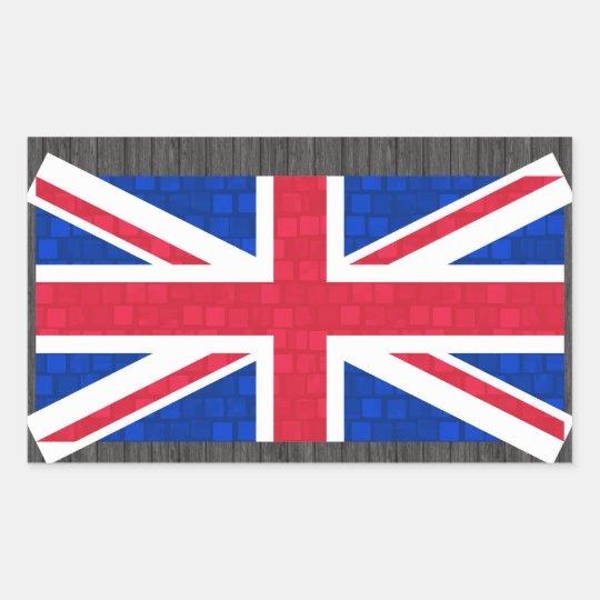 Modern Pattern English Flag Sticker