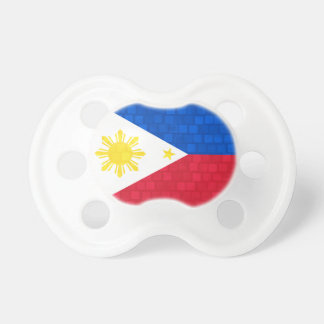 Modern Pattern Filipino Flag Pacifiers
