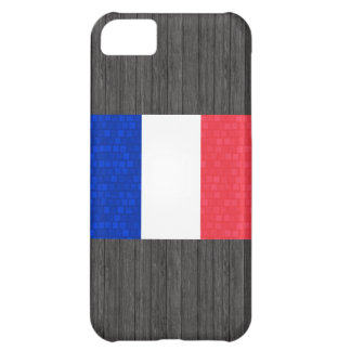 Modern Pattern French Flag Cover For iPhone 5C