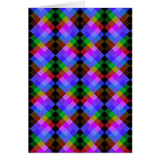 Modern Pattern in Black and Bright Colors. Card