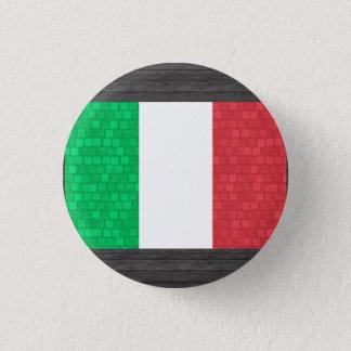 Modern Pattern Italian Flag 1 Inch Round Button