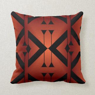 Modern Pattern Pillow-Home -Burnt Orange/Black Throw Pillow