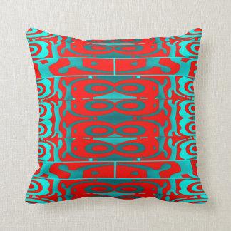 Modern Pattern Pillow-Home Decor-Red/Blue/Aqua Throw Pillow