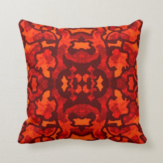 Modern Pattern Pillow-Home -Red/Orange-Brown Throw Pillow