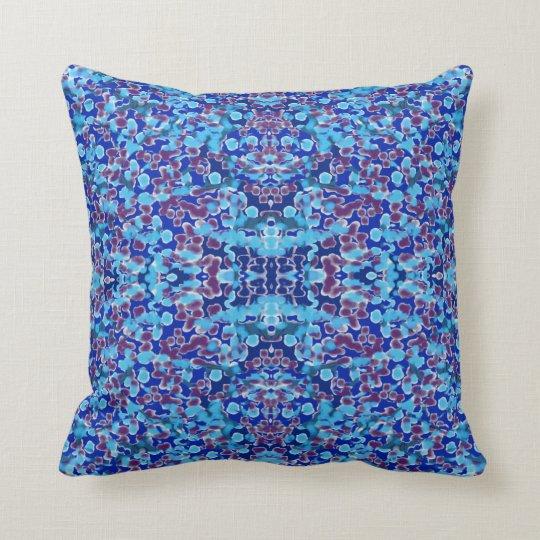 Modern Pattern Pillow- Shades of Blue/Maroon Throw Pillow