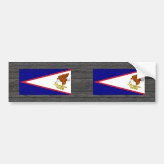 Modern Pattern Samoan Flag Bumper Sticker