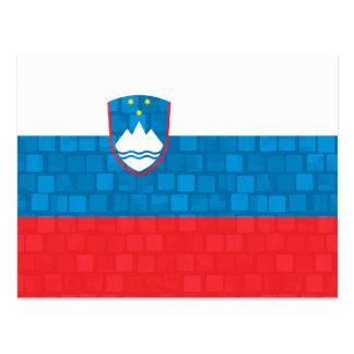 Modern Pattern Slovene Flag Postcard
