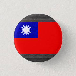 Modern Pattern Taiwanese Flag 1 Inch Round Button