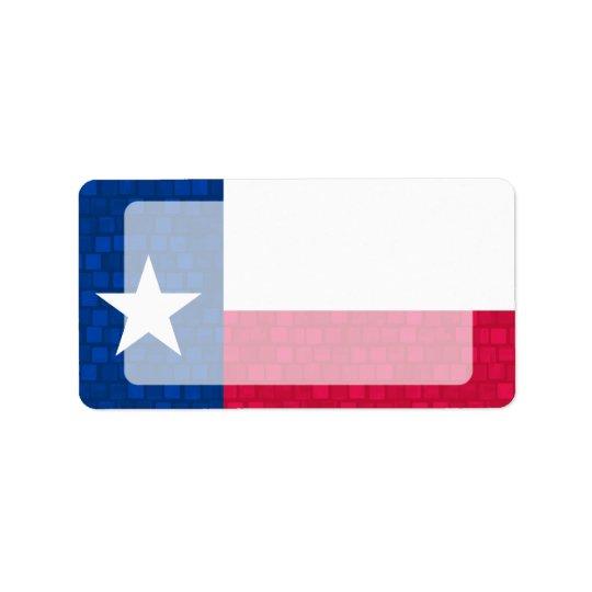 Modern Pattern Texan Flag