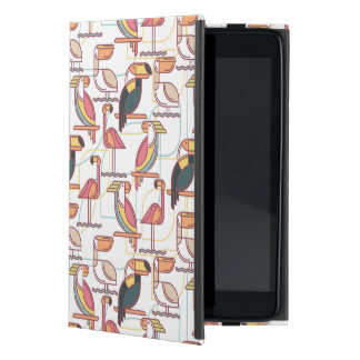 Modern Pattern With Tropical Birds iPad Mini Cases