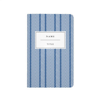 Modern, Patterned Pocket Journal - Navy Blue