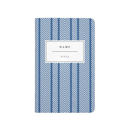 Modern, Patterned Pocket Journal - Navy Blue