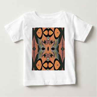 Modern Peach Black Artistic Abstract Background Baby T-Shirt