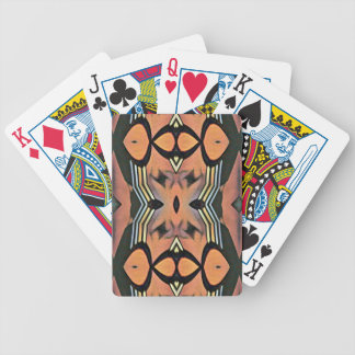 Modern Peach Black Artistic Abstract Background Bicycle Playing Cards