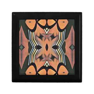 Modern Peach Black Artistic Abstract Background Gift Box
