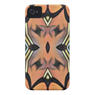 Modern Peach Black Artistic Abstract Background iPhone 4 Covers