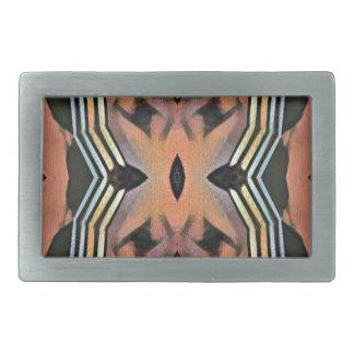 Modern Peach Black Artistic Abstract Background Rectangular Belt Buckle