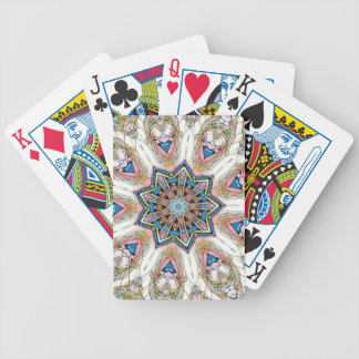 Modern Peach Blue Mandala Pattern Poker Deck