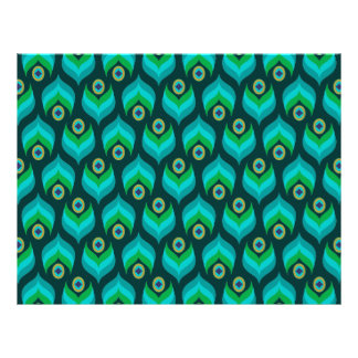 Modern Peacock Feather Pattern Party Paper