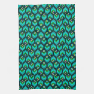 Modern Peacock Pattern Kitchen Towel