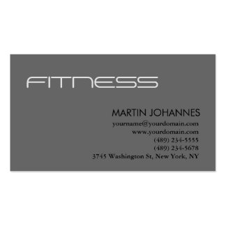 Modern Personal Trainer Gray Business Card