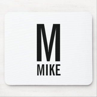 Modern Personalized Bold Monogram and Name Mouse Pad