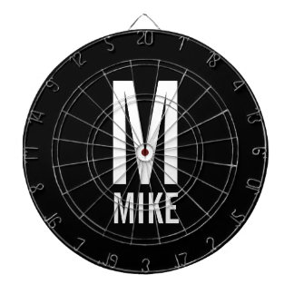Modern Personalized Monogram and Name Dartboard