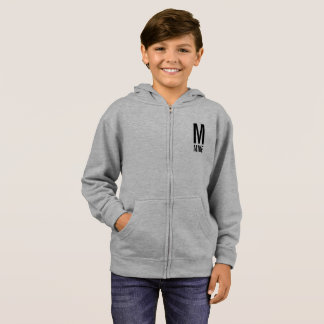Modern Personalized Monogram and Name Hoodie