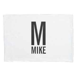 Modern Personalized Monogram and Name Pillowcase