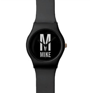 Modern Personalized Monogram and Name Watch
