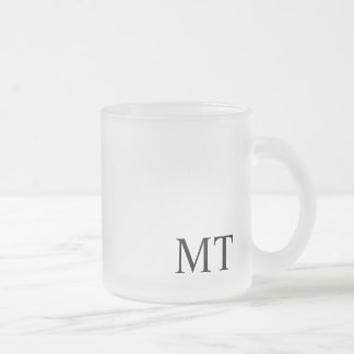 Modern Personalized Monogram Frosted Glass Coffee Mug