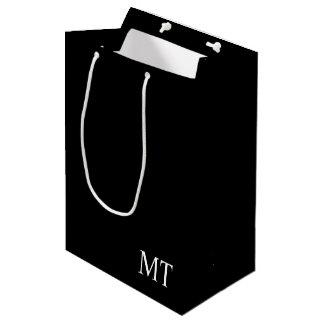 Modern Personalized Monogram Medium Gift Bag