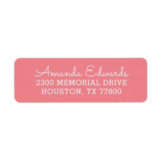 Modern Personalized Return Address