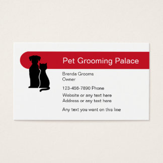 Pet grooming business cards and business card templates for Grooming business cards