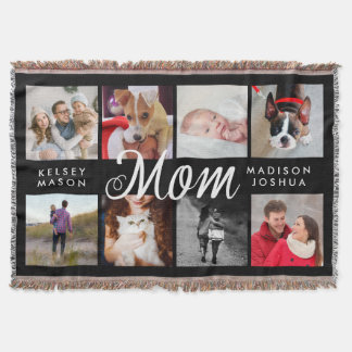 Modern Photo Blanket for Mom | Black and White Throw
