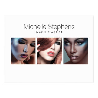 Modern Photo Card for Makeup Artists, Stylists Postcard