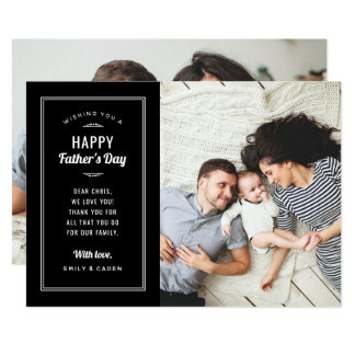 Modern Photo Father's Day Card for Husband and Dad